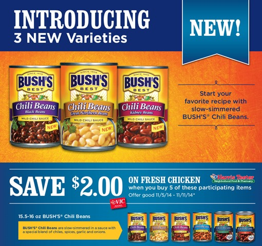 picture relating to Bush's Chicken Coupons Printable called Discount coupons for bushs fowl in just san antonio : Occupied occasion