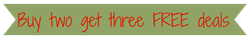 buy two get three free deals banner final