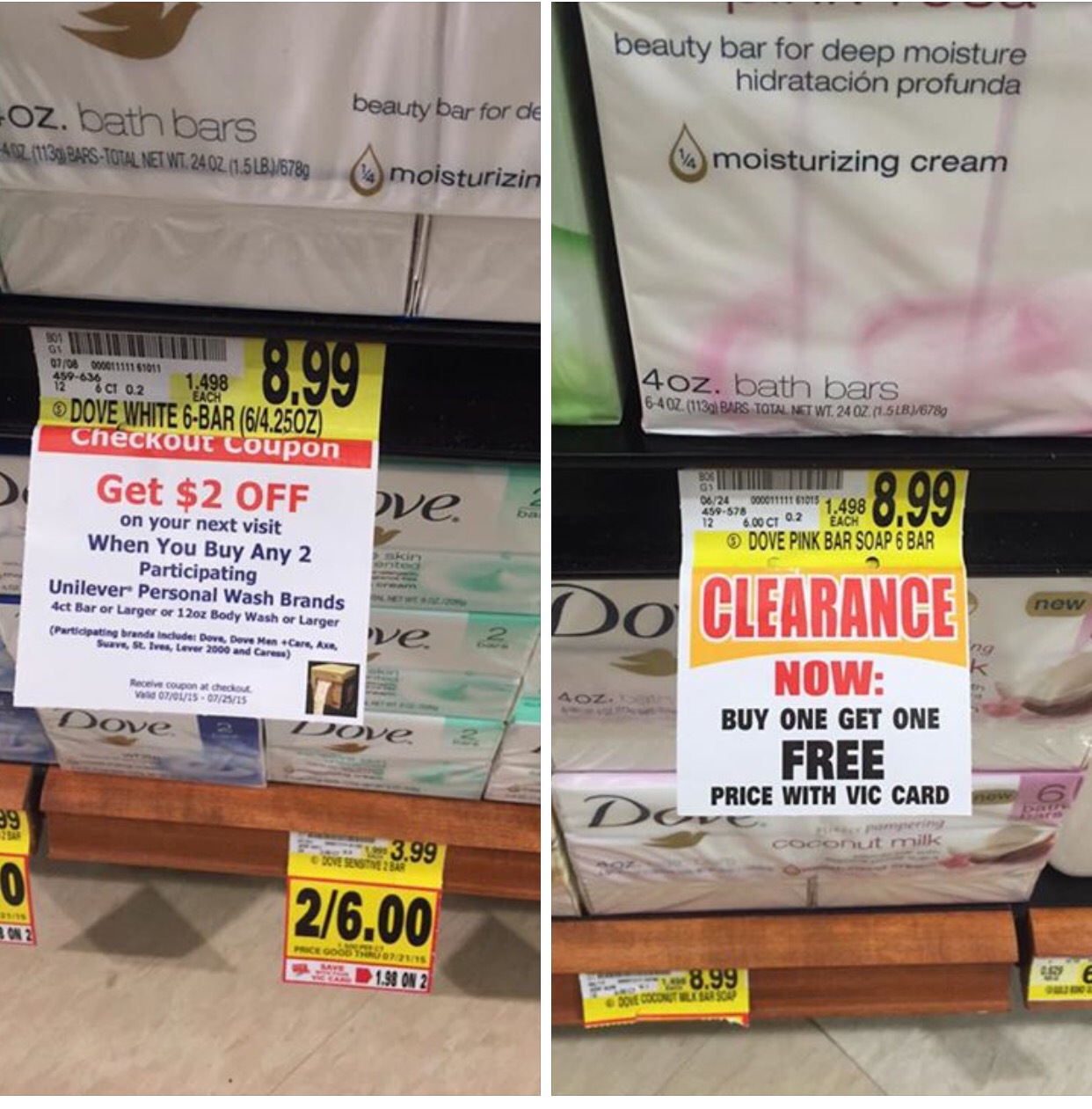 Dove Soap Possible Clearance + Catalina! - The Harris Teeter Deals