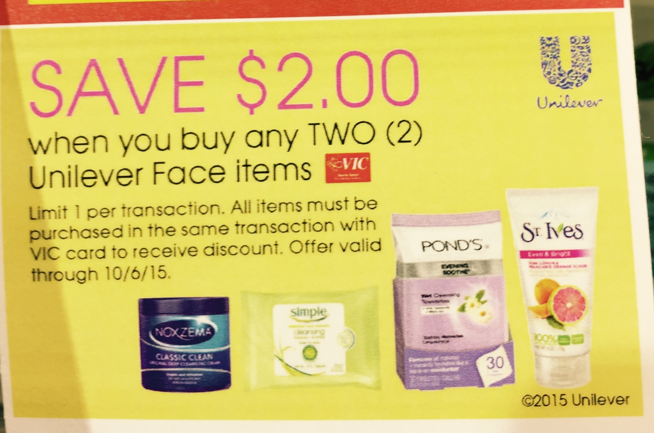 Unilever discount coupons