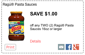 My coupon database below has all current store coupons, eCoupons, and manufacturer coupons available. Make Rag Your Weeknight GoTo with Sloppy Joe & $1 Ragu Printable Coupons; How to a $1 off Rag Old World Style Pasta Sauce coupon exclusively at.