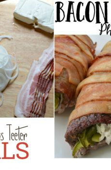 Bacon Wrapped Philly Cheese Cubed Steak {Deals to Meals}