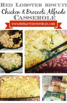 Red Lobster Biscuit :: Chicken & Broccoli Alfredo Casserole {Frugal Dinner!}