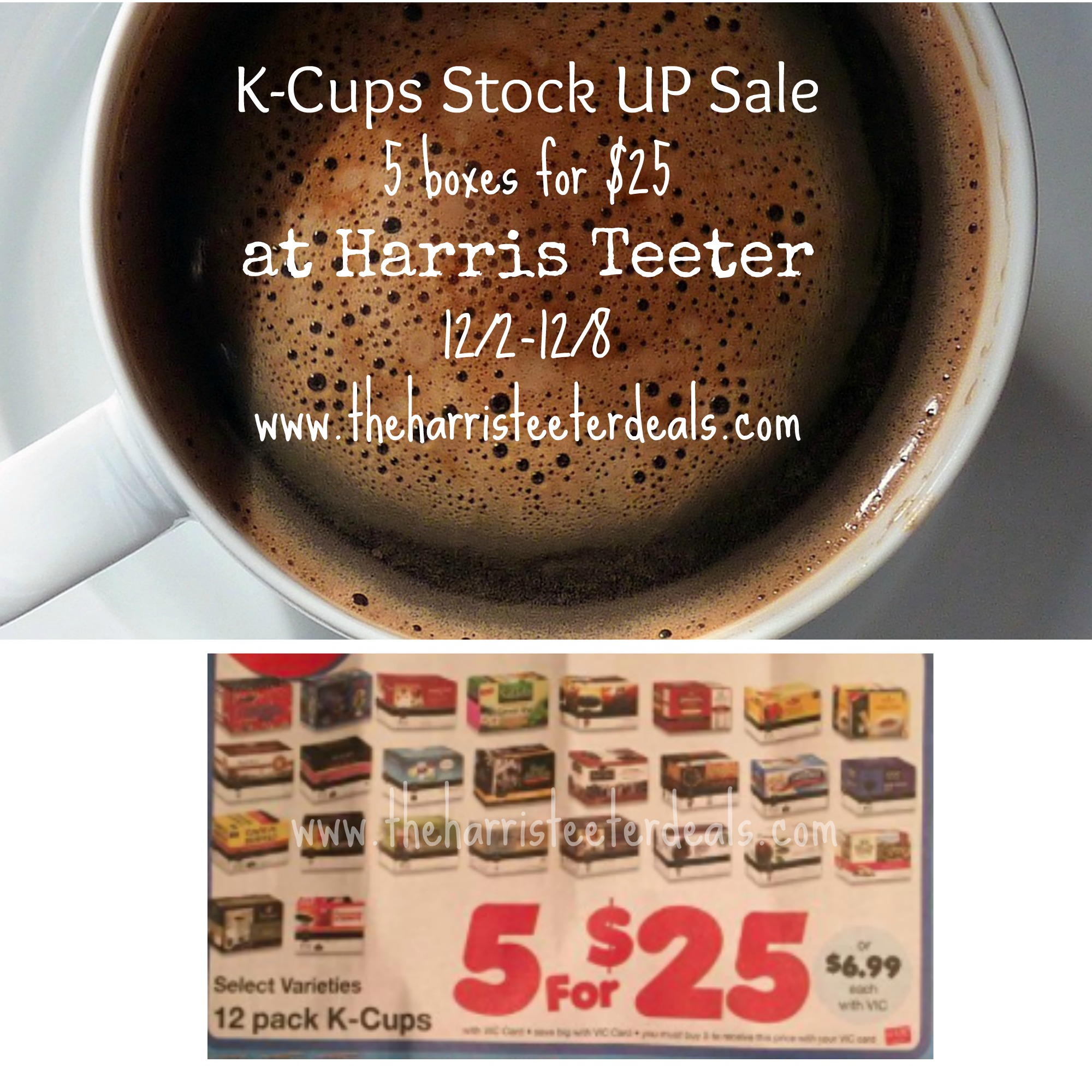 HOT! K-Cup Stock Up Sale is back $5 for $25! - The Harris Teeter Deals