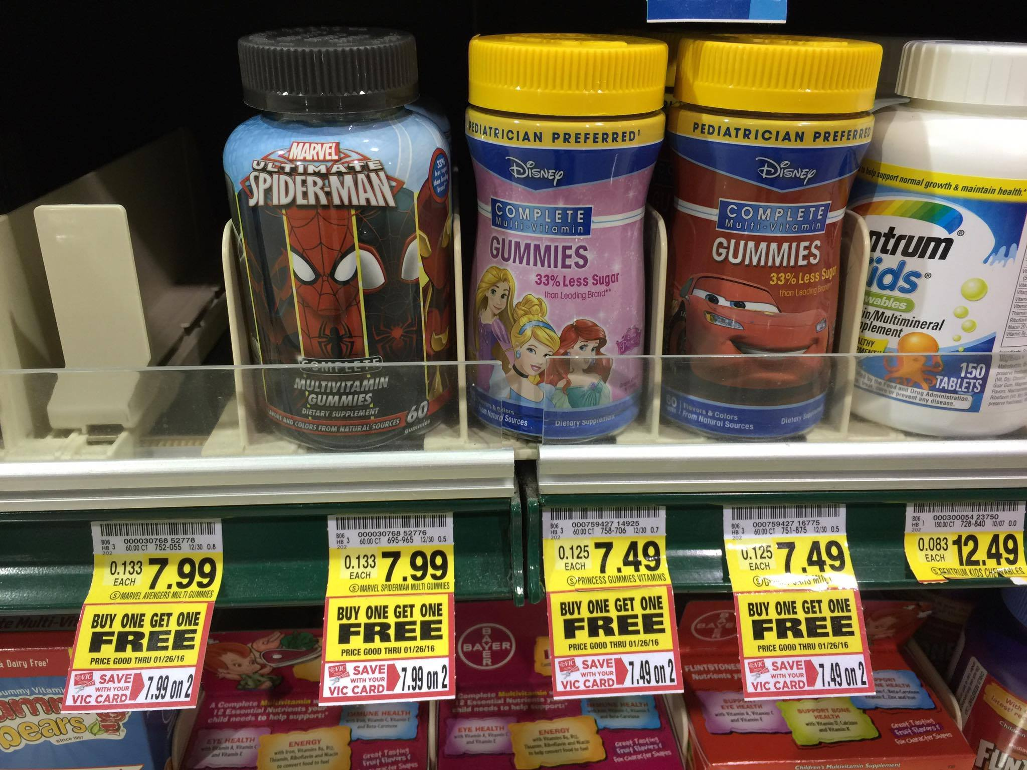Disney children s gummy vitamins buy one get one free coupon the
