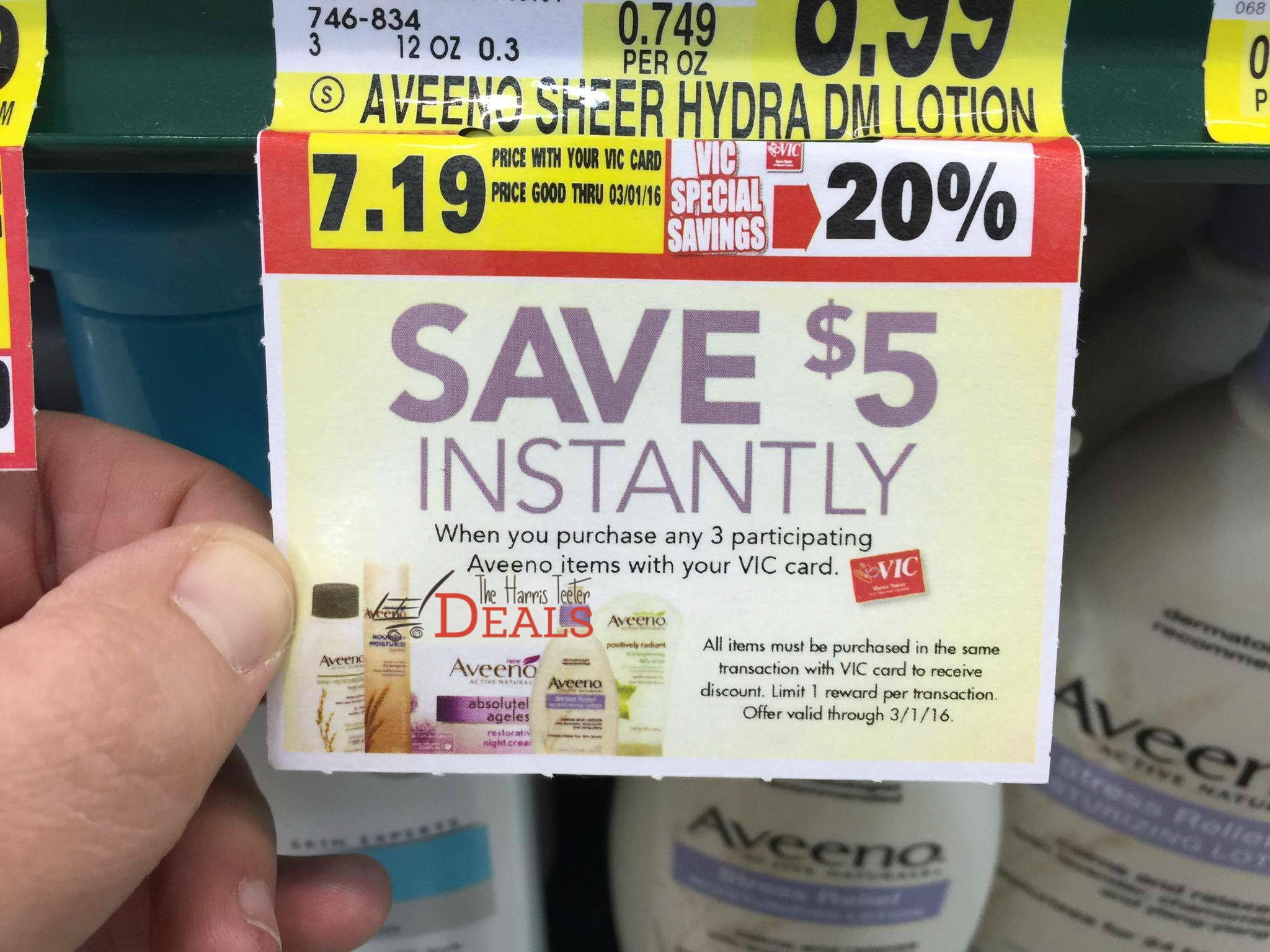 Aveeno Promotion at Harris Teeter Buy 3 save $5! - The Harris Teeter Deals