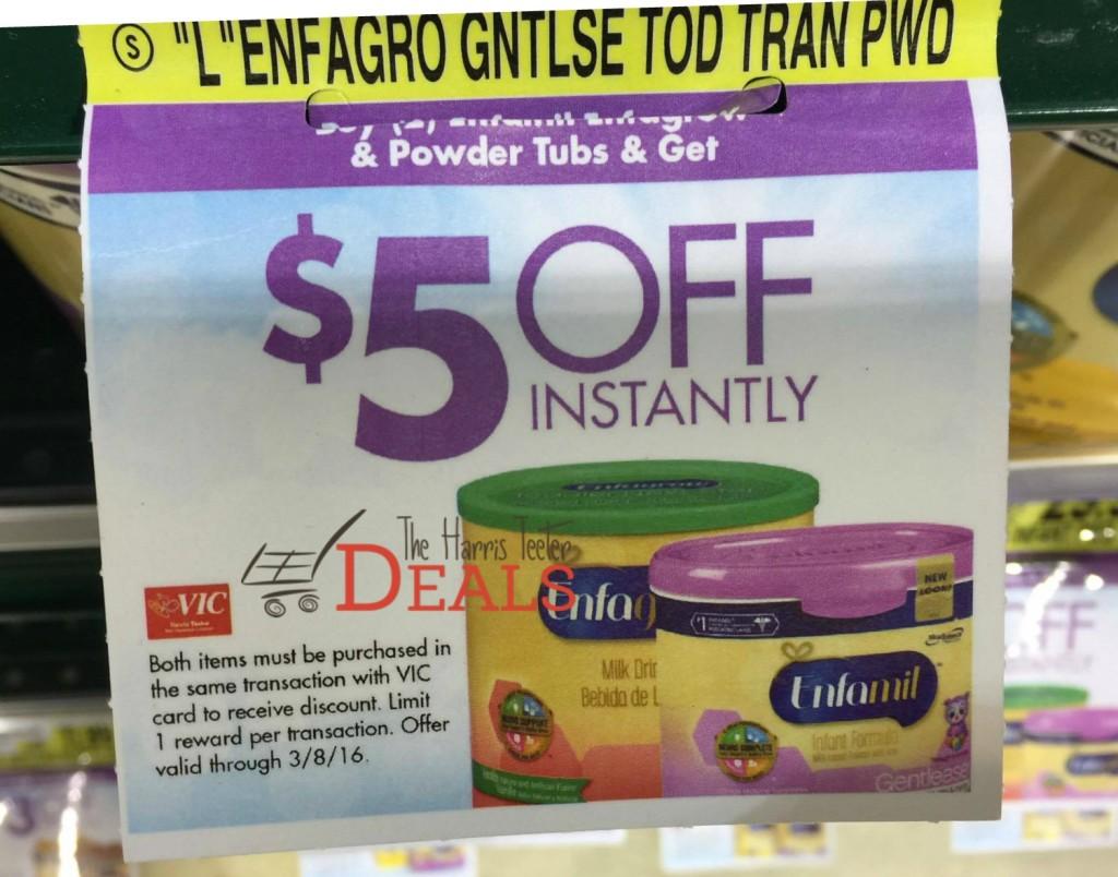 promotion: buy 2 enfamil formula save $5! - the harris teeter deals