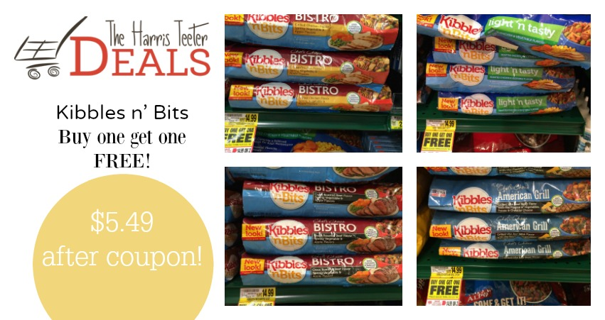 Coupons for dog food kibbles and bits