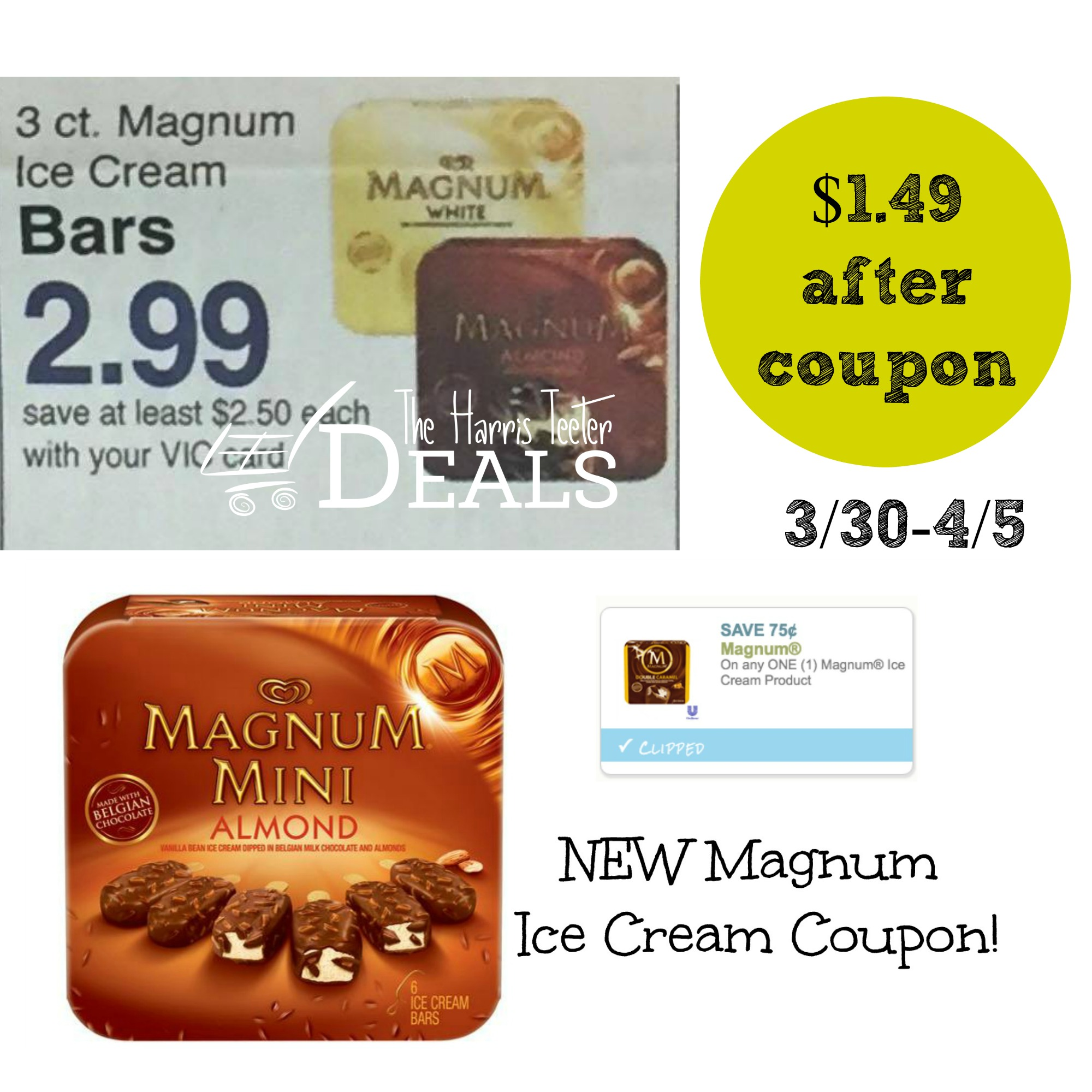 Hurry! NEW Magnum Ice Cream Coupon! ($1.49 starting ...