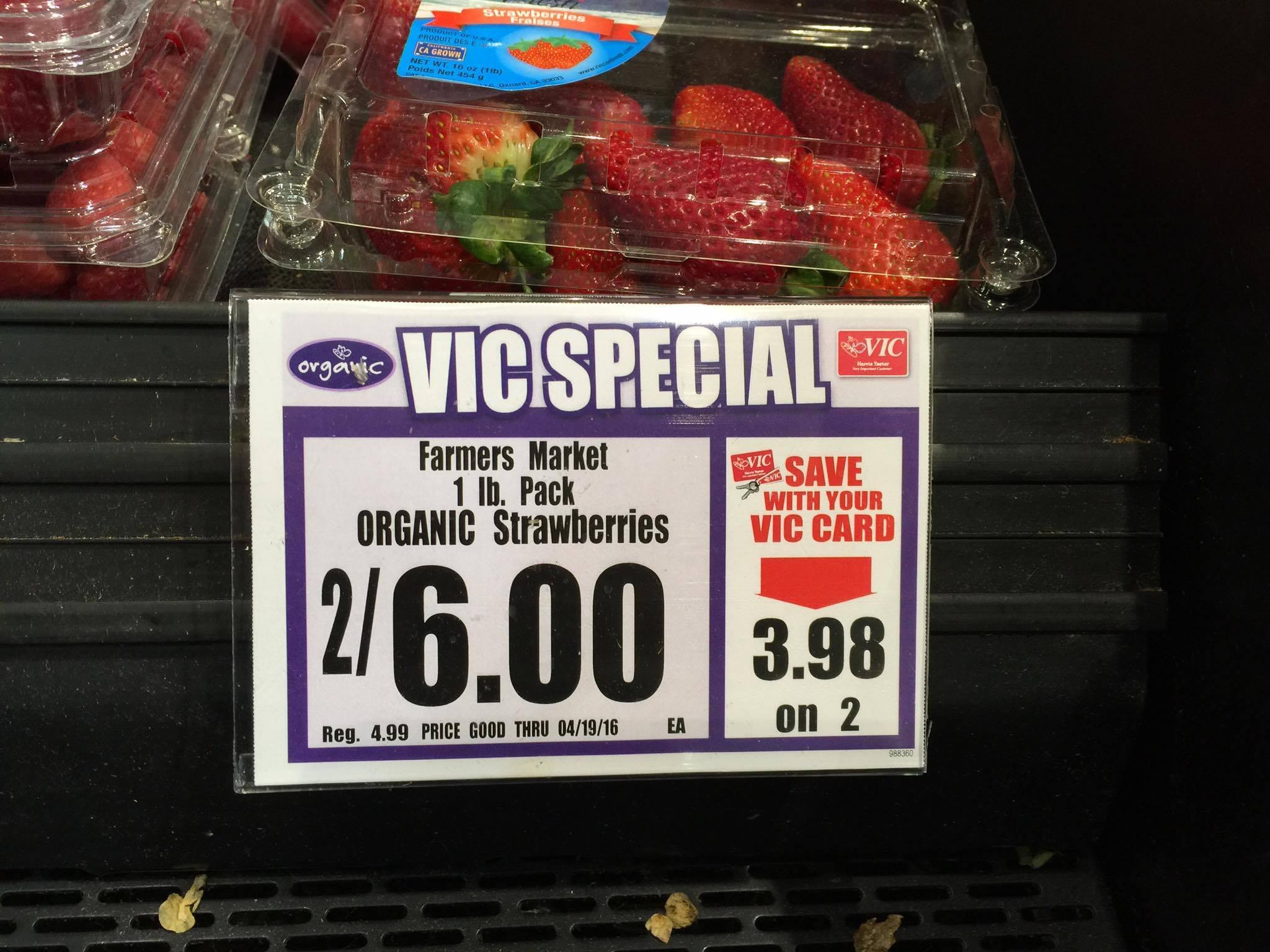 organic strawberris