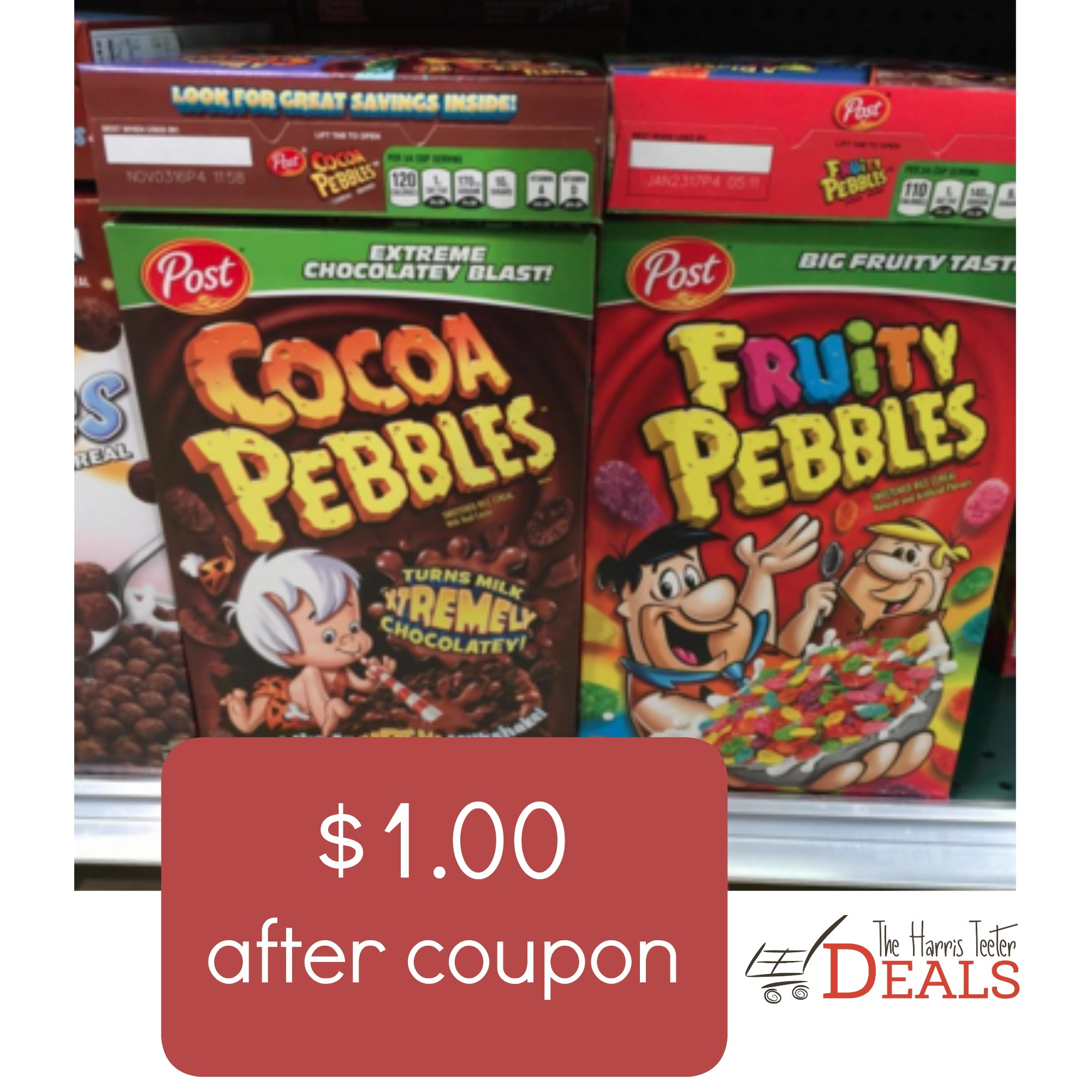 Cocoa Or Fruity Pebbles Cereal Just $1.00