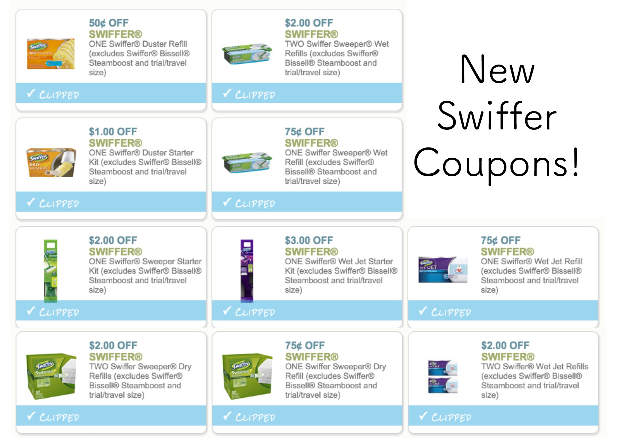 Like Swiffer coupons? Try these...