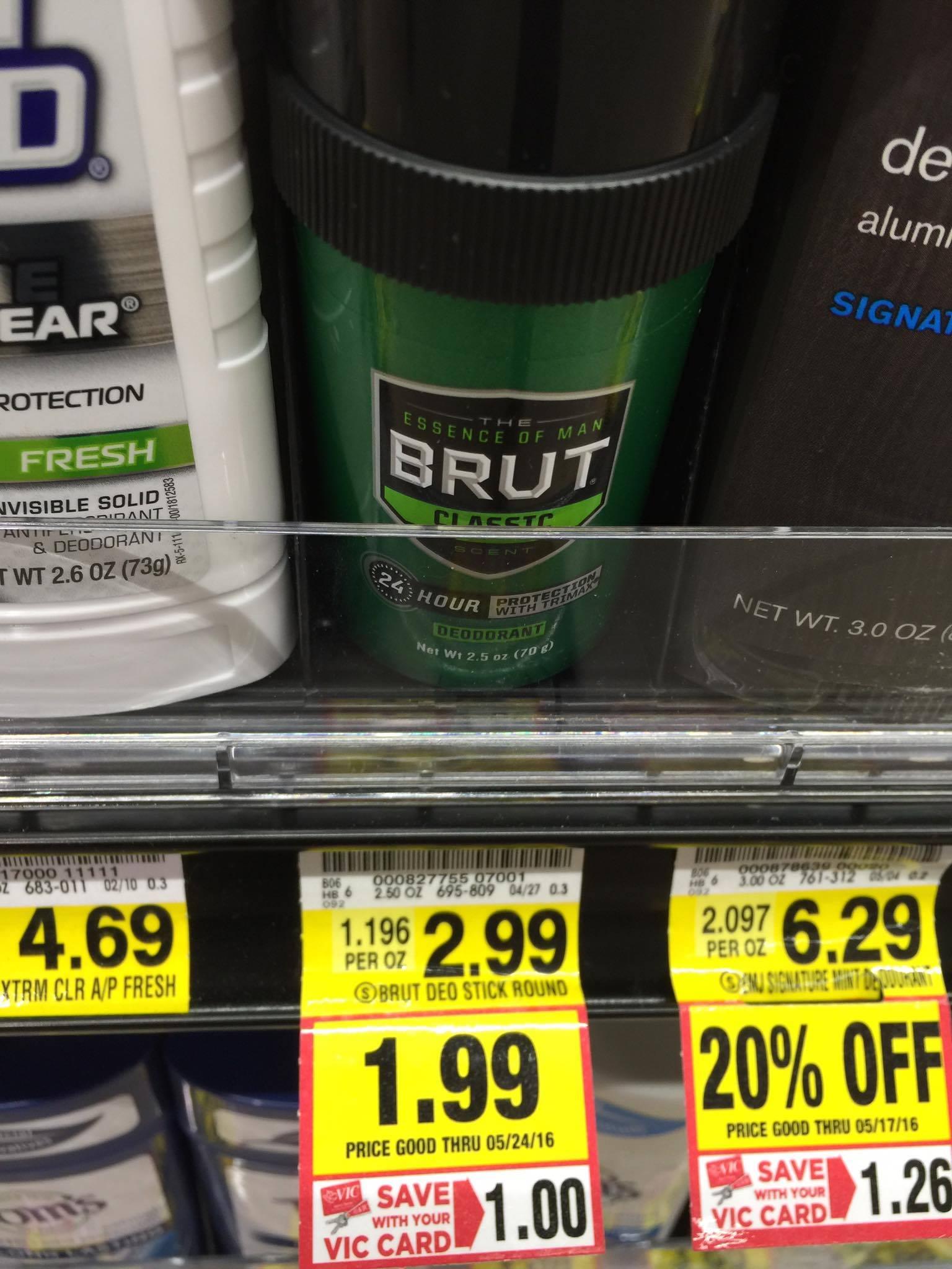 brut deodorant