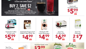 Starbucks Promotion {Buy 2, save $2 instantly!} K-Cups $3.99!