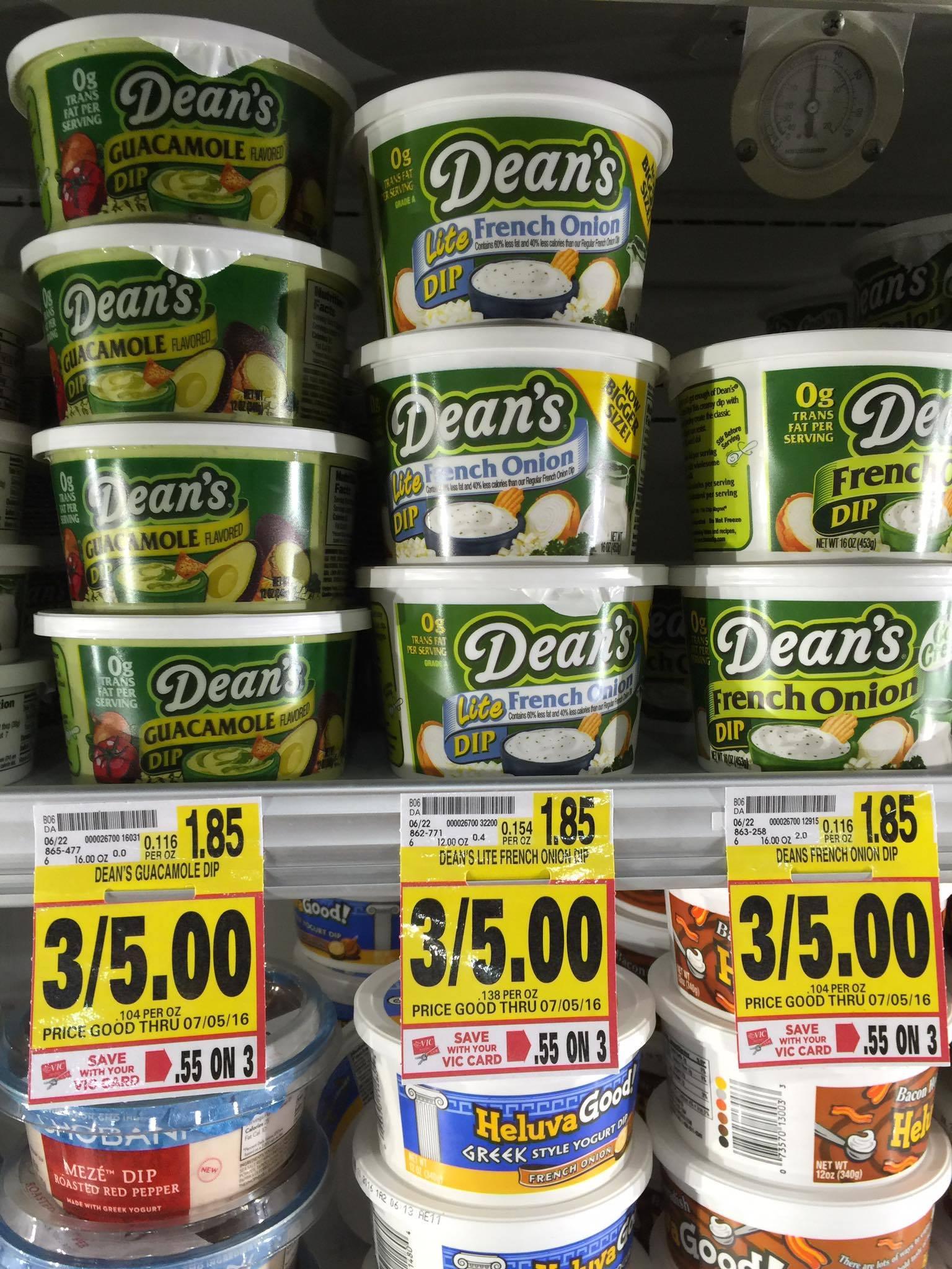 Deans chip dip coupon