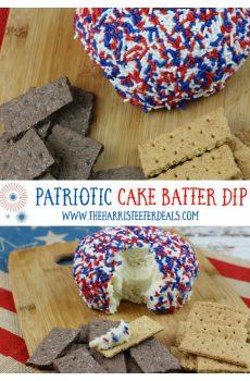 Patriotic Cake Batter Dip Recipe