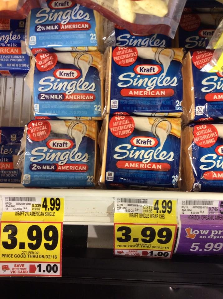 kraft singles harris teeter