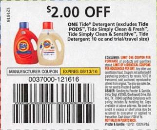 Tide coupons november 2018