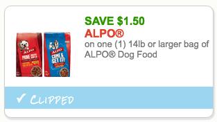 Alpo dog food coupons