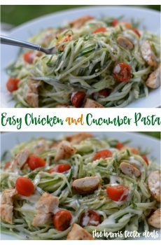 Easy Chicken & Cucumber Pasta Recipe {Deals to Meals}