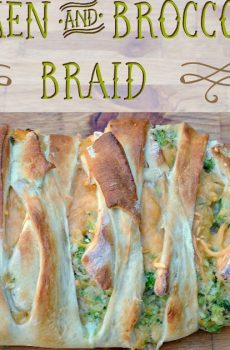 Chicken and Broccoli Braid {Deals to Meals}