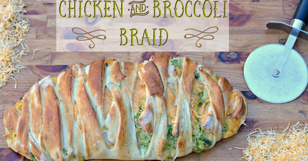chicken brocolli braid