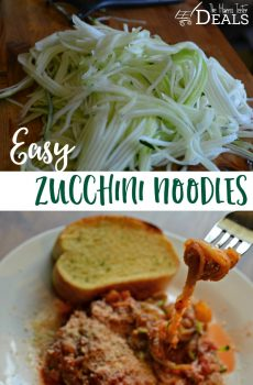 How to Make Easy Zucchini Noodles {Deals to Meals}