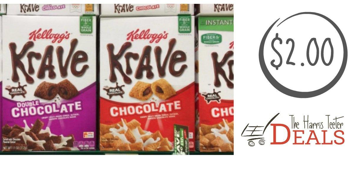 kelloggs Krave Cereal harris teeter