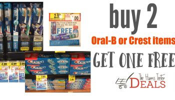 Crest and Oral-B Promo: Toothbrushes as low as 49¢