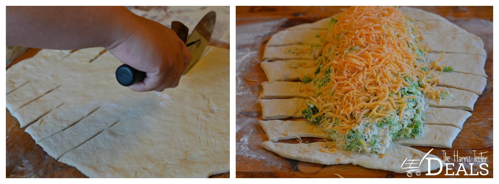 chicken and brocolli braid