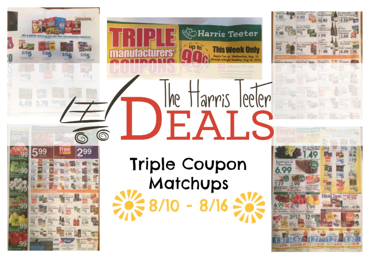 Harris Teeter Deals: Triple Coupon Matchups {8/10 - 8/16} Master ...