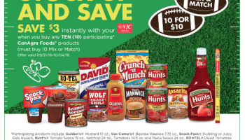 ConAgra Promotion: Buy 10 items, save $3 Instantly!