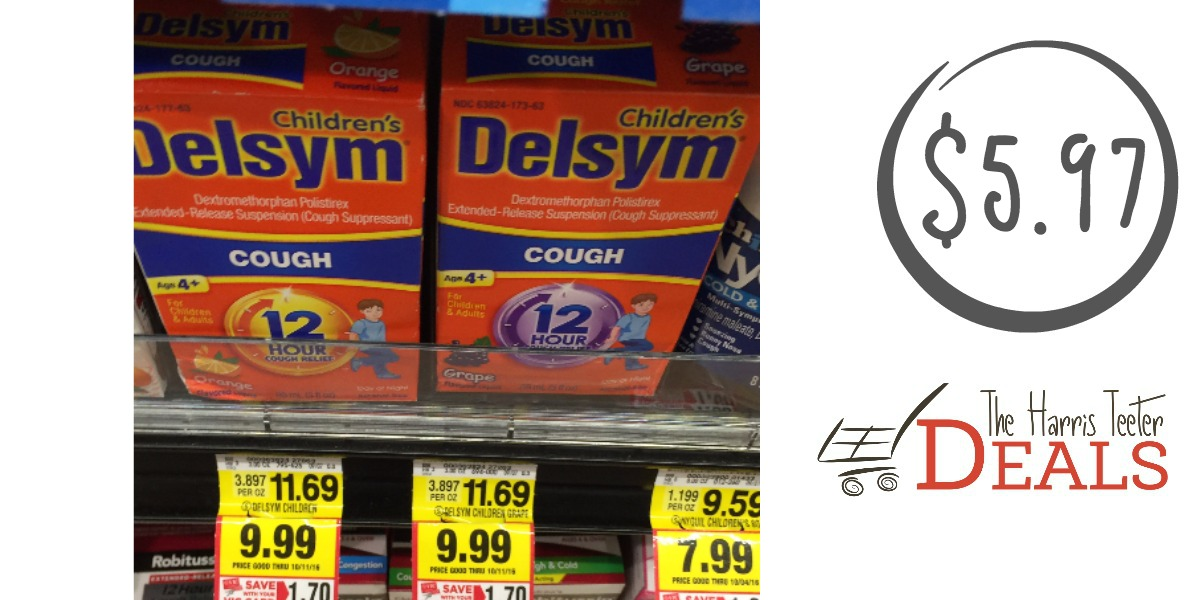 Delsym cough syrup coupons