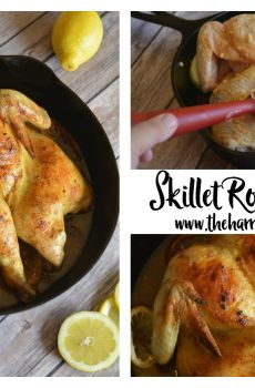 Skillet Garlic and Lemon Roast Chicken {Deals to Meals}