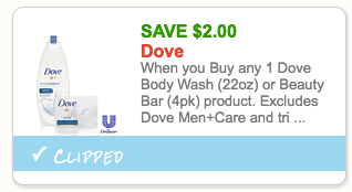 dove body lotion coupon