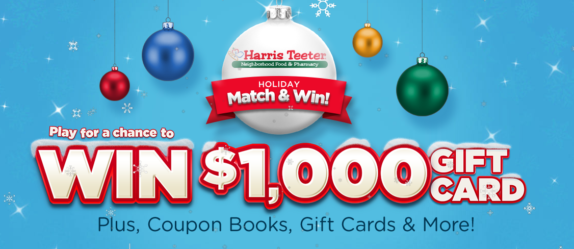 harris teeter holiday match and win - Harris Teeter Christmas Hours