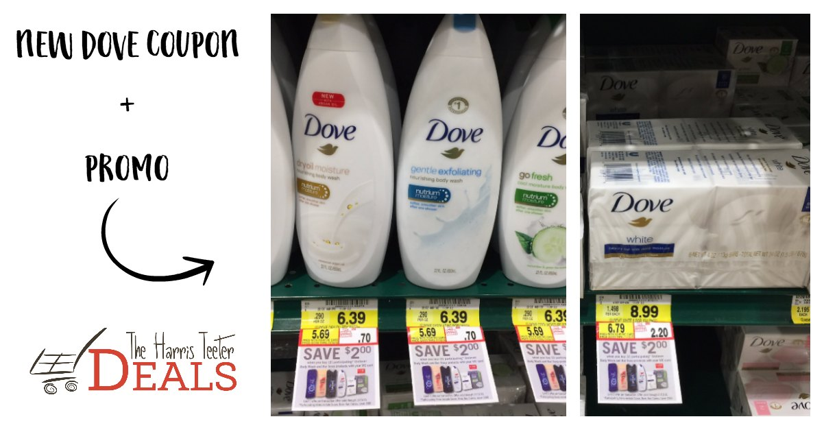 Nice! $2 off Dove Wash or Bar Soap Coupon - The Harris Teeter Deals