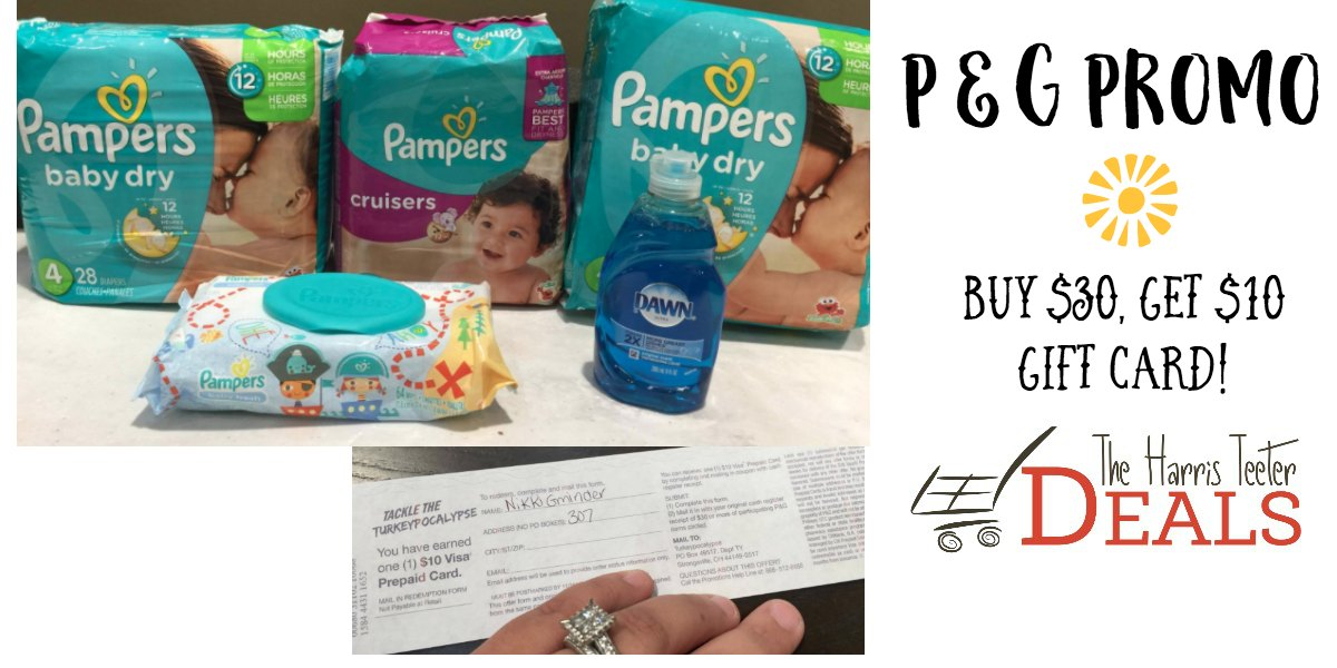 purchase $30 in select P&G Products and get a $10 gift card by mail ...