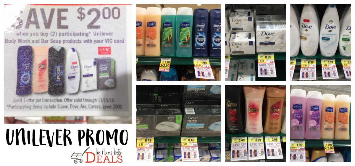 Unilever Wash & Soap Promo {Buy 2, save $2} FREE Soap! - The Harris Teeter Deals