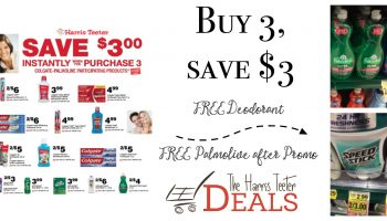 Harris Teeter Instant Savings Promo on Colgate-Palmolive {FREE Speed Stick, Palmolive}