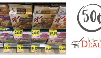 Special K Bars just 50¢ through 1/24 at Harris Teeter!