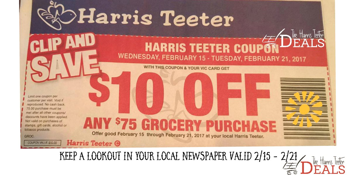 harris teeter free coupon book