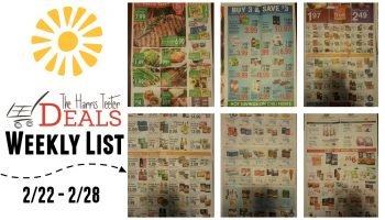 Harris Teeter Deals Weekly Ad & Matchup List  2/22 – 2/28 {Complete List}