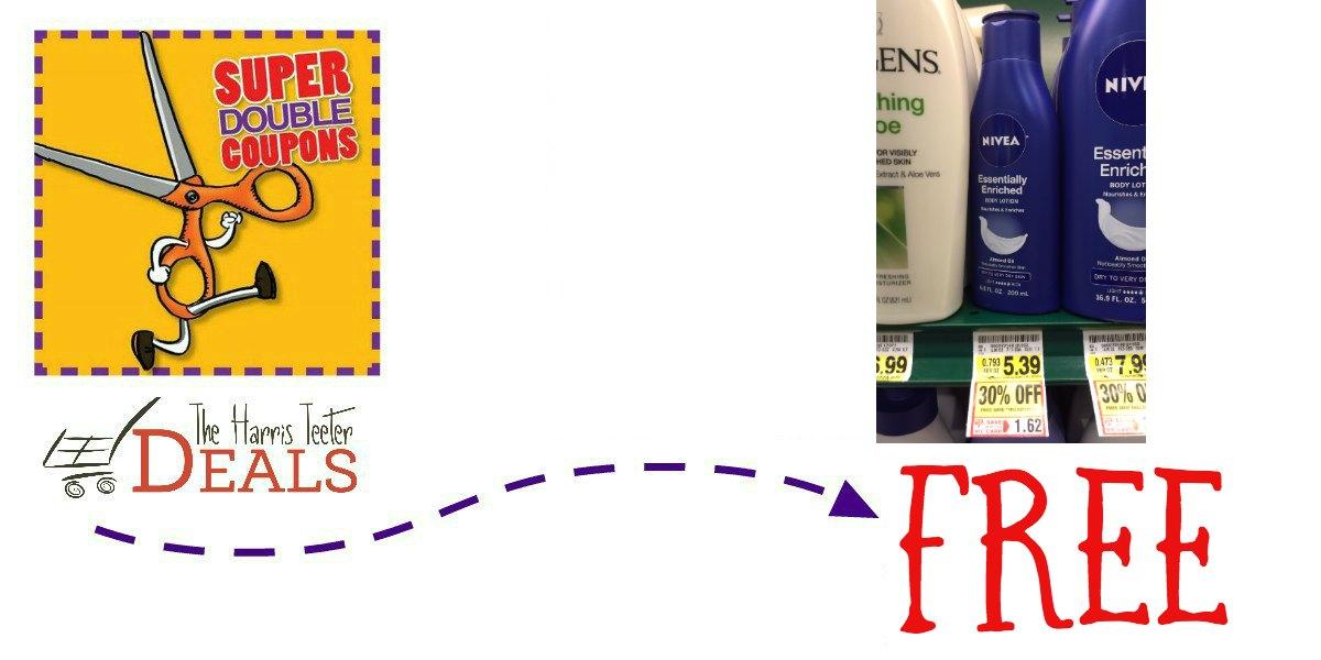 FREE Nivea Lotion! NEW Nivea Printable! {Super Double Blitz} - The Harris Teeter Deals