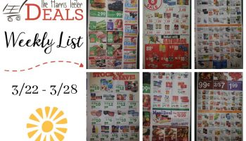 Harris Teeter Deals Weekly Matchups List 3/22 – 3/28 {Complete List}