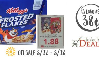 HOT Upcoming Sale on Kellogg's Cereal as low as 38¢ at Harris Teeter!