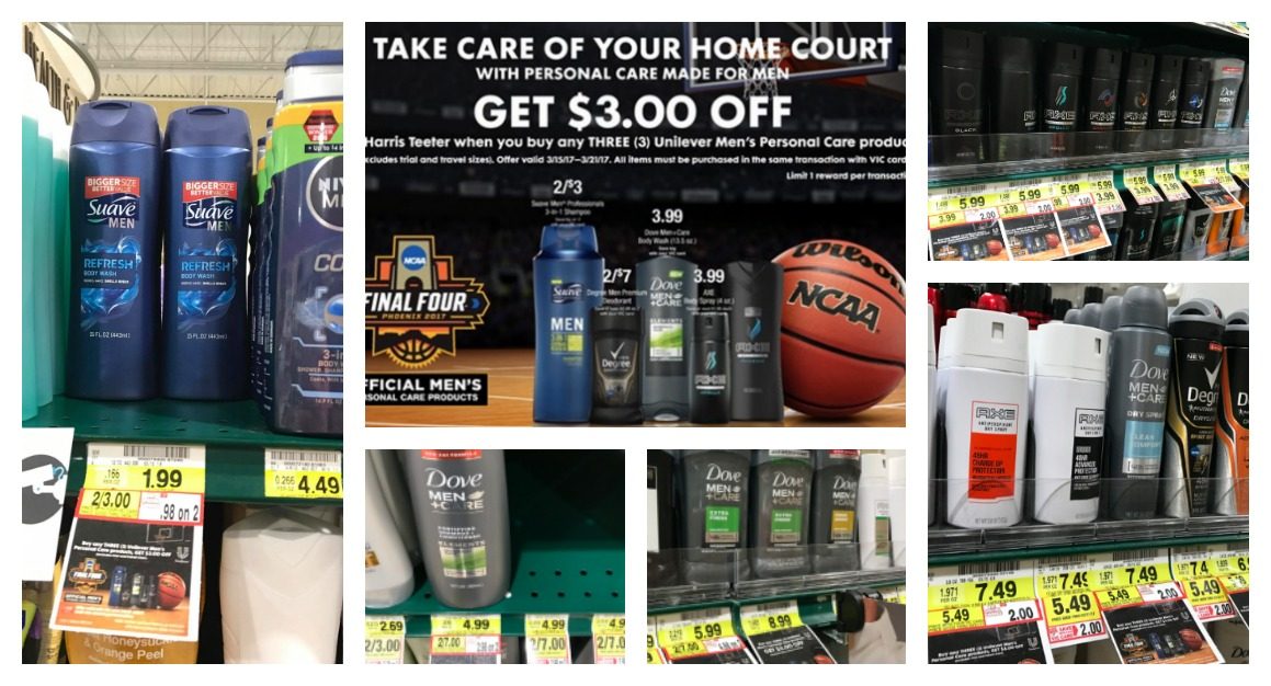 Unilever Men's Personal Care : Buy 3, save $3 Promotion at Harris Teeter - The Harris Teeter Deals