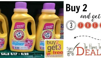 Arm and Hammer Detergent- Buy Two get Three FREE Starting 5/17 – 5/23!