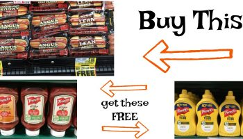 Buy Ballpark Hot Dogs get FREE Ketchup and Mustard {6/21 – 6/27}