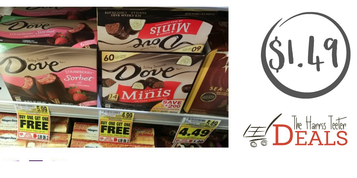 Dove Ice Cream Bars as low as $1.49! - The Harris Teeter Deals